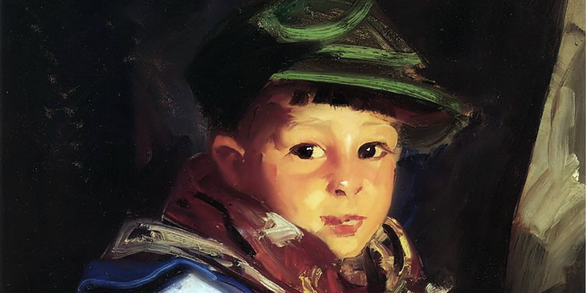 Boy With A Green Cap (Also Known As Chico). Robert Henri