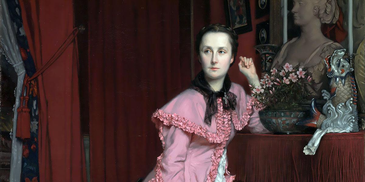 Portrait of Marquise de Miramon, née, Thérèse Feuillant. James Tissot