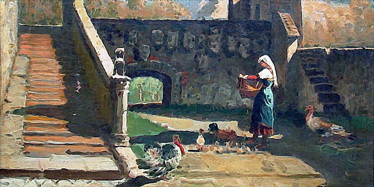 Scena campestre. Francesco Saverio Altamura (1822-1897)
