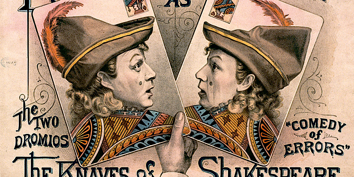 CIRCA 1879: Robson & Crane, the two dromios, the Knaves of Shakespeare.