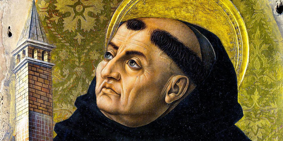 San Tommaso d'Aquino. 1476. Polittico di Carlo Crivelli