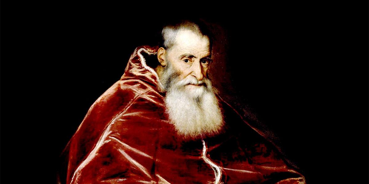 Ritratto di papa Paolo III a capo scoperto, (olio su tela) di Tiziano