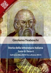 Storia della letteratura italiana. Tomo IV – Parte II, di Girolamo Tiraboschi