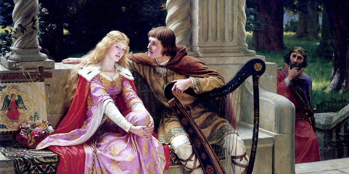 """Tristan and Isolde"". Edmund Blair Leighton"