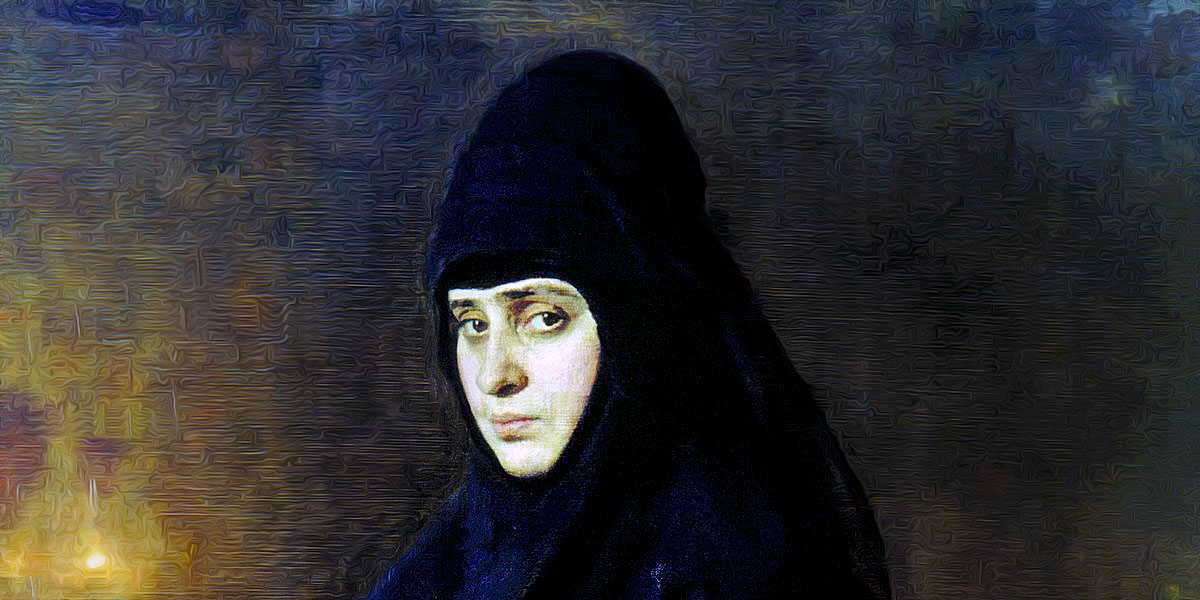 Nun (1887). Ilya Repin