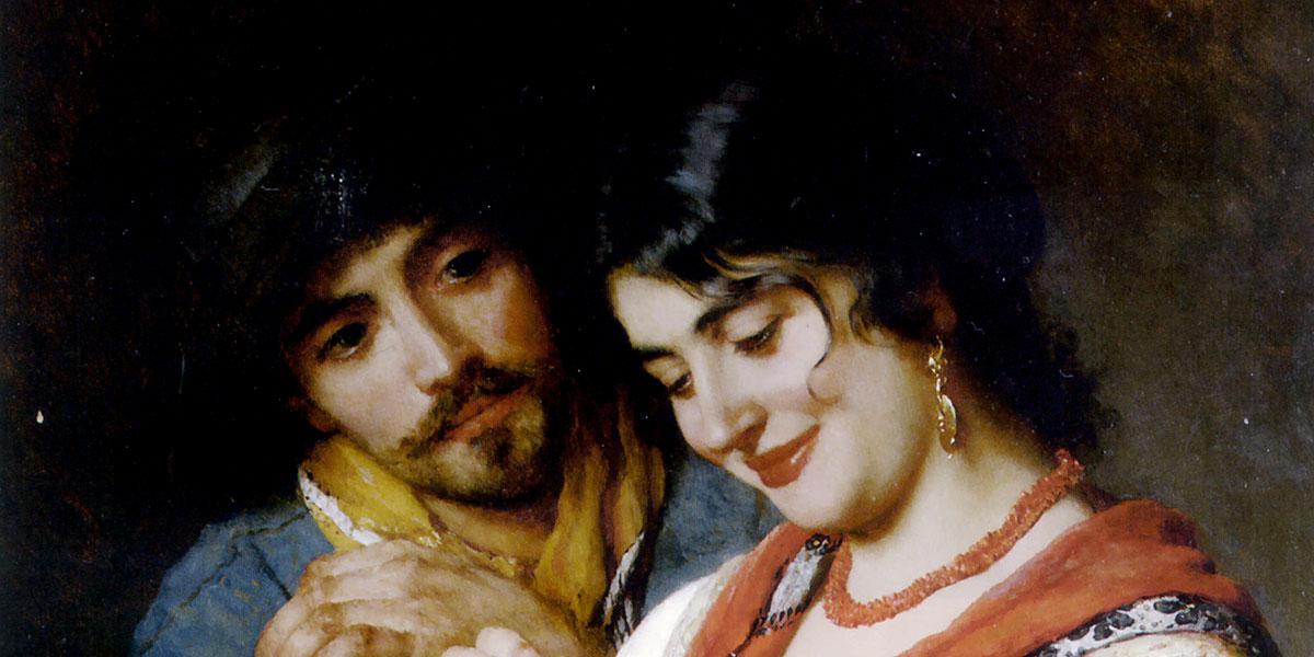 The Seamstress. Eugene de Blaas