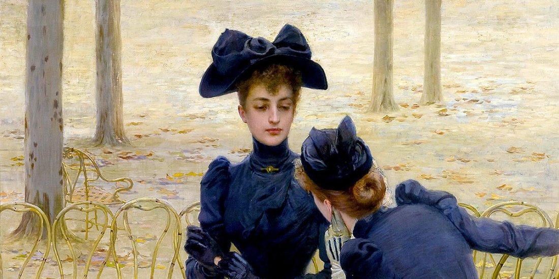 """""""Conversazione nei Giardini di Luxembourg, 1892, Olio su tela"""" di Vittorio Matteo Corcos"""