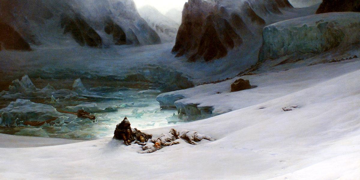 """Magdalenefjorden"" di François-Auguste Biard"