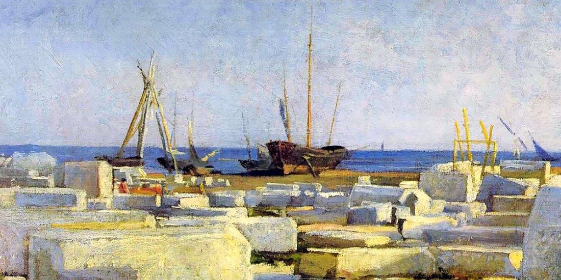 Loading marble. Nikolai Ge