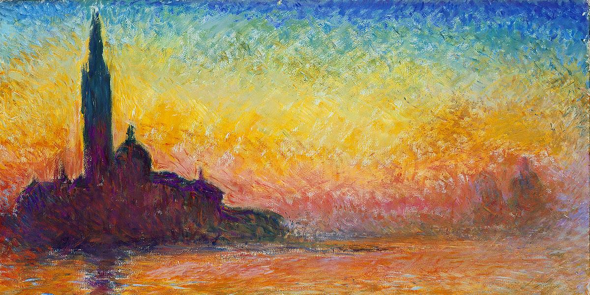 Saint-Georges majeur au crépuscule. Claude Monet