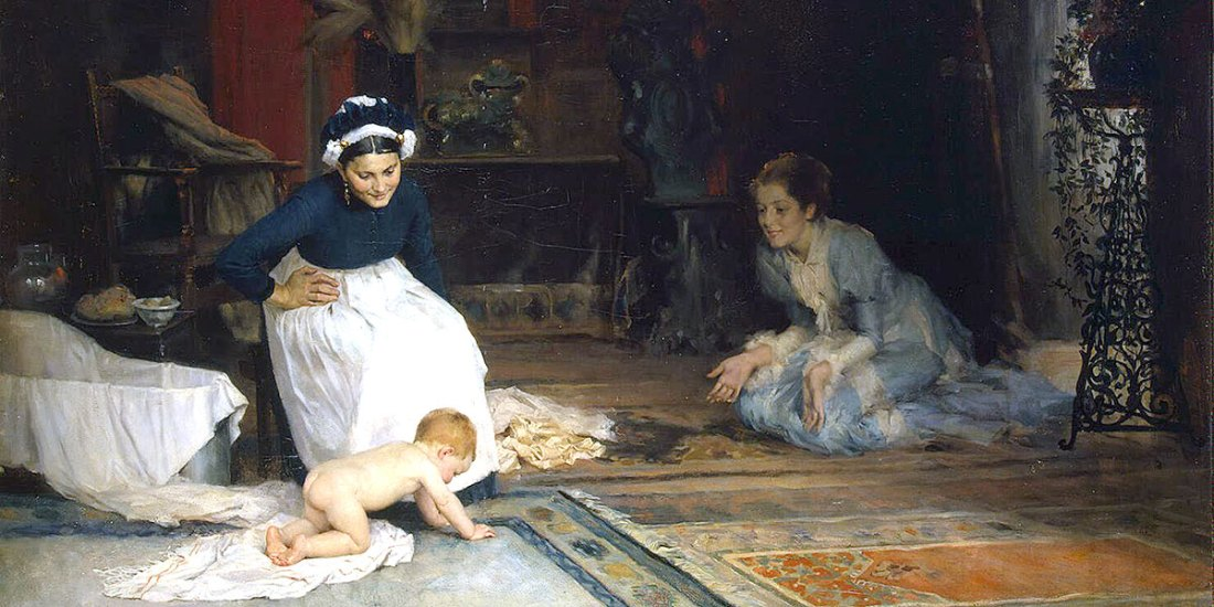 In the Nursery (1885). Albert Edelfelt
