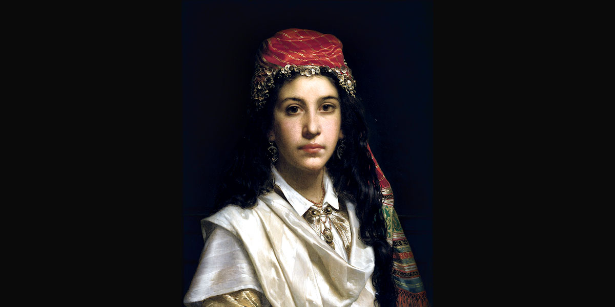 Young lady wearing a middle-eastern costume. Jan Portielje (1829–1908)