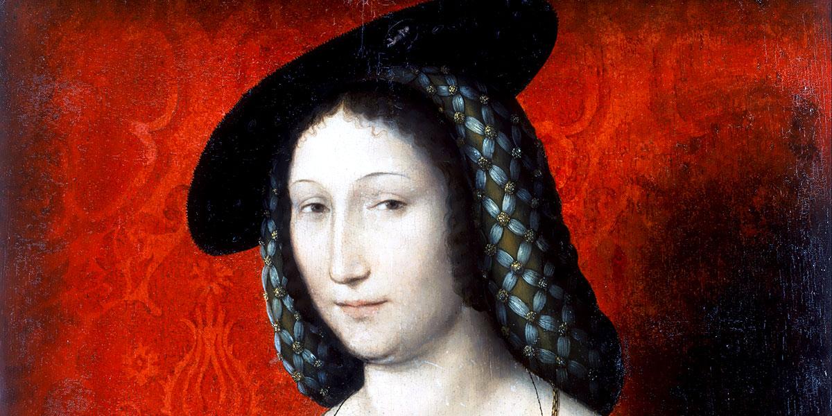 Jean Clouet (Attributed). Portrait of Marguerite of Navarre