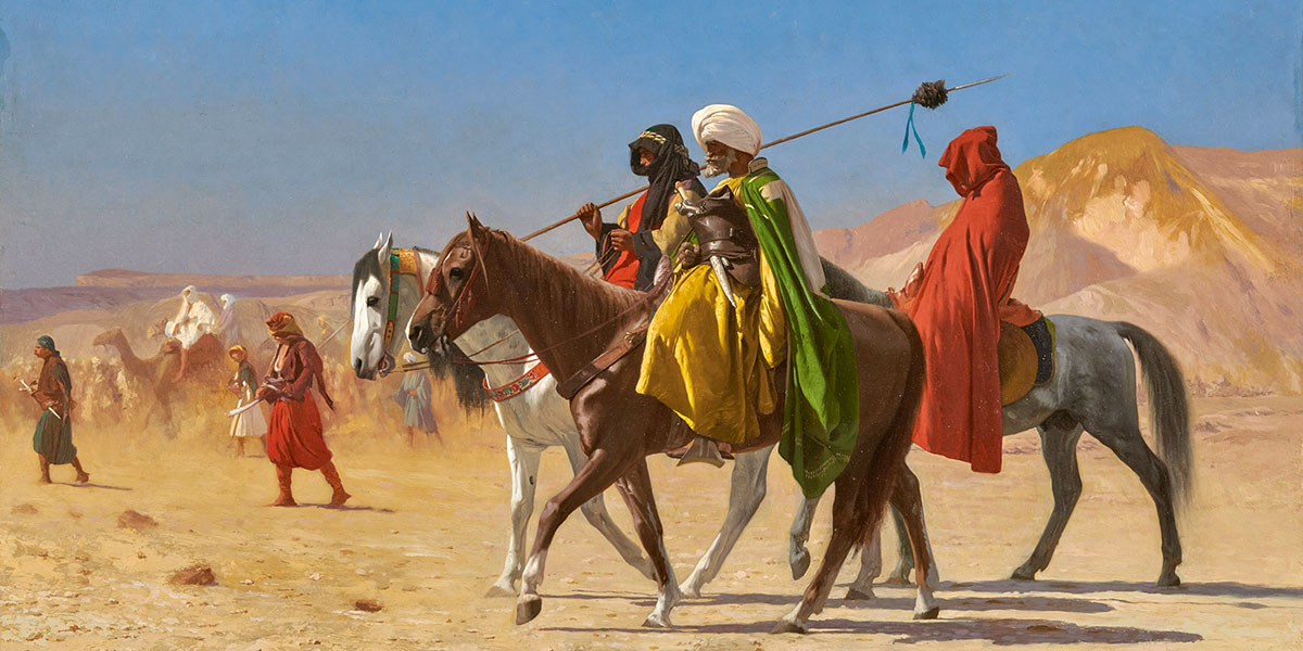 Jean-Léon Gérôme. Riders Crossing the Desert