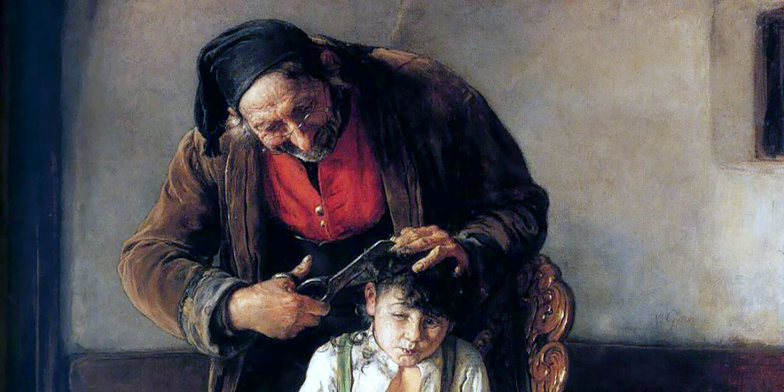 Nikolaos Gyzis. The Barber