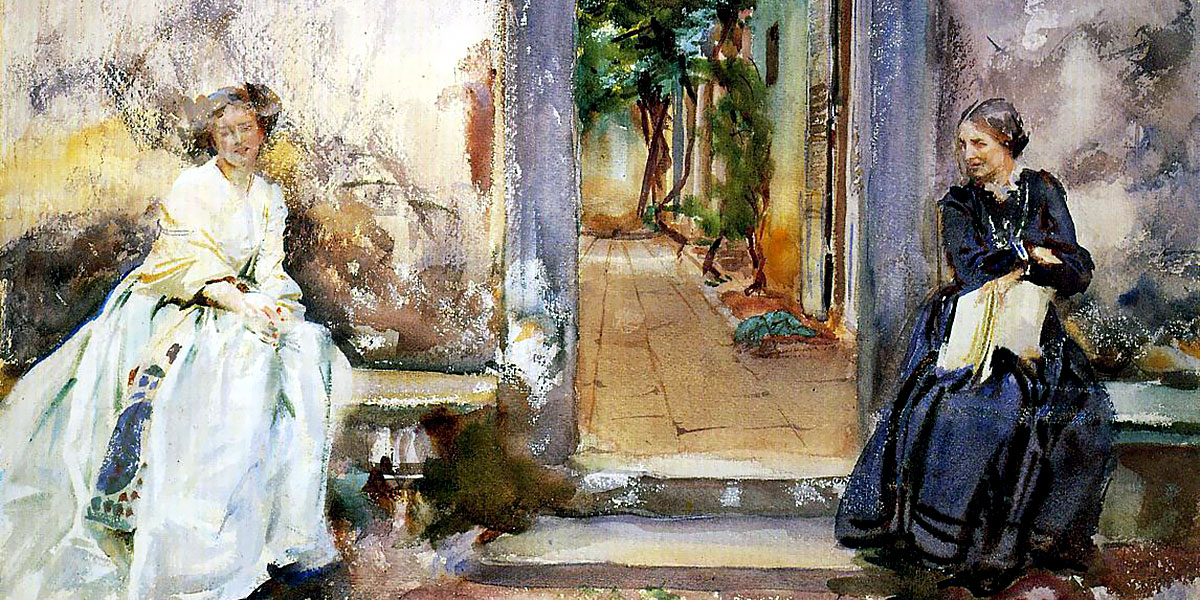 The Garden Wall. John Singer Sargent