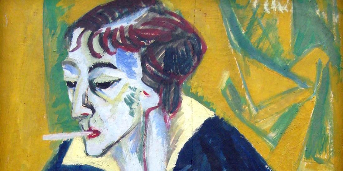 Erna with Cigarette. Ernst Ludwig Kirchner