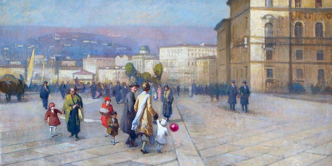 Le rive di Trieste all'altezza di Piazza Unità