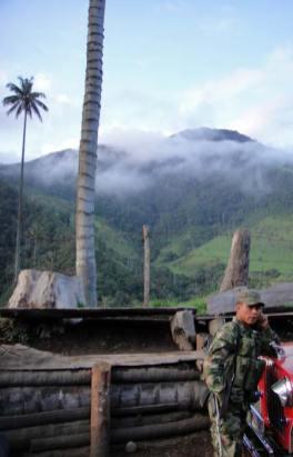 Un militare colombiano