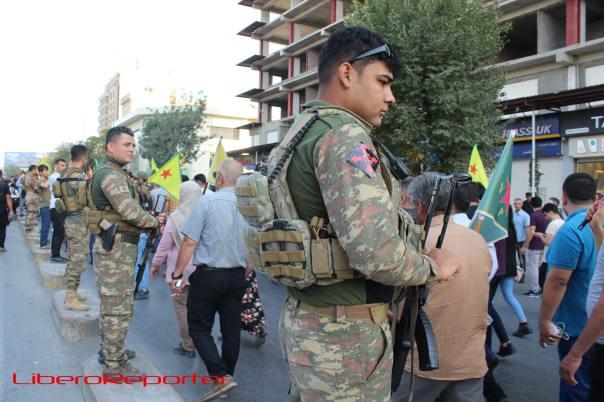 Manifestazioni curde di questi giorni a Sulaymanyyiah, al confine con l'Iran