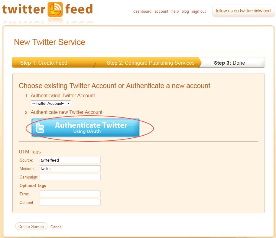 enlazar con twitter 2