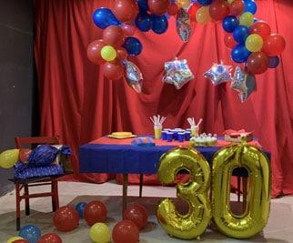 Décoration d'un anniversaire thème Barça
