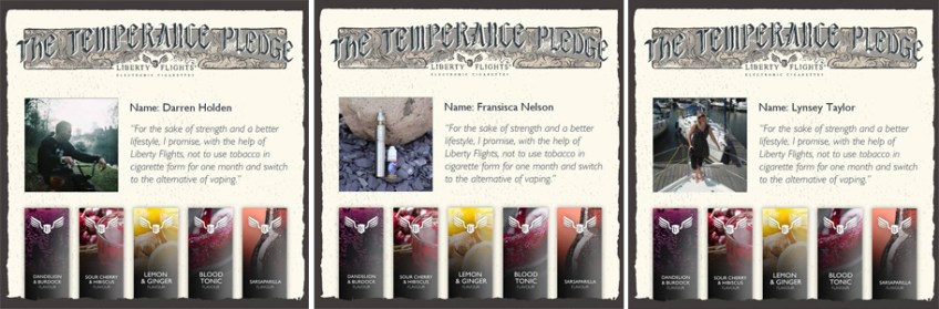 Temperance pledge