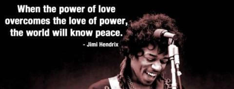 Image result for the power of love the love of power jimi hendrix
