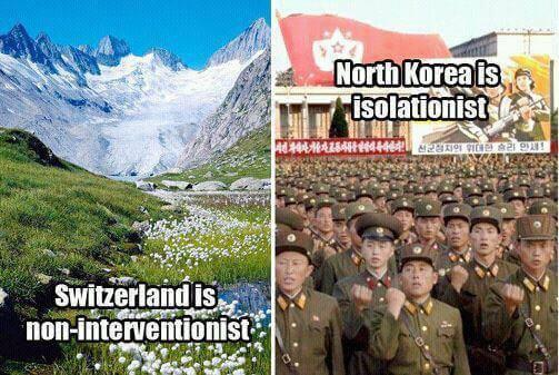 Isolationist vs Non-Interventionist Foreign Policy