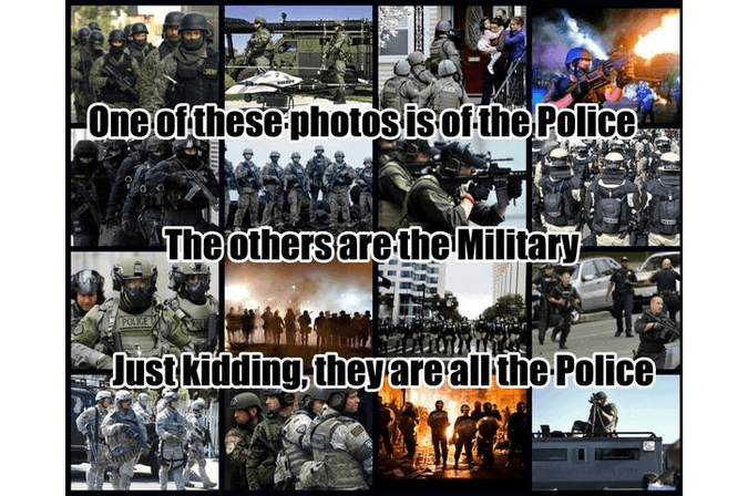 Police Militarization Meme