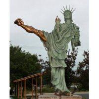 Statue of Liberty Karate Kick