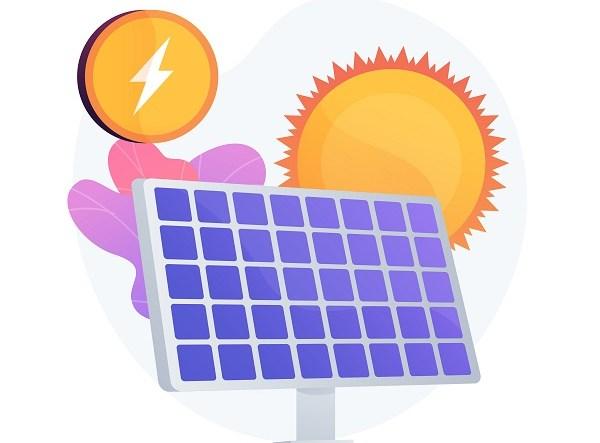 Solar energy vector concept metaphor