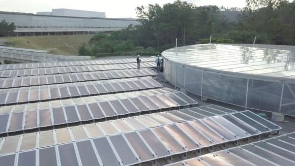 Painéis solares tecnologia OPV, case Natura - Fonte: site Sunew