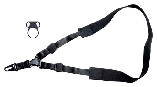Boyt Tactical Nylon Single Point Sling Kit, Steel Receiver Adapter, Black: $20