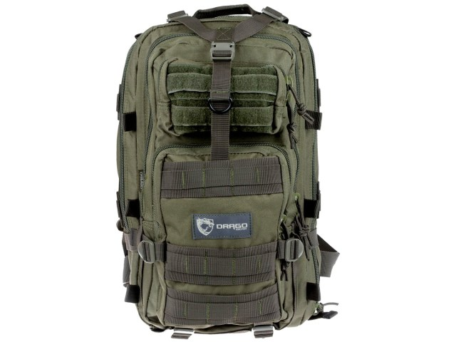 DRAGO Gear Tracker Backpack, 18″x11″x11″, 600D Polyester Green: $59