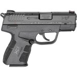 New Springfield XDE, SA/DA, 9mm, 3.3″ Barrel, Black Polymer Frame, 1 – 8 Round & 1 – 9 Round Magazines, Ambidextrous External Safety, Fiber Optic Front Sight, Low Profile Combat Rear Sight: $469