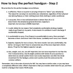How to buy the perfect handgun – Step 2