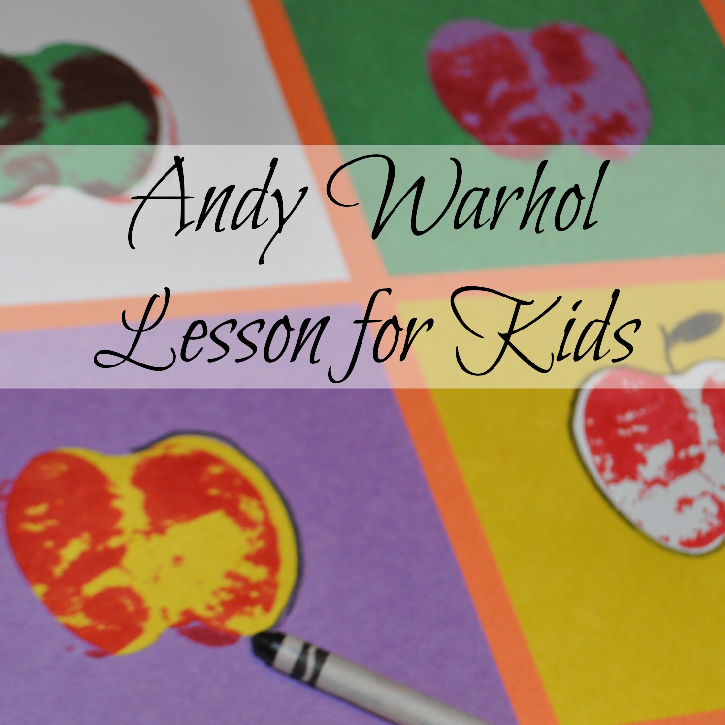 Andy Warhol Lesson For Kids