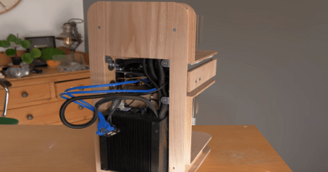 Crafting A Fully-Functional PC From Wood- Time Slows Down For Once