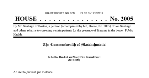 Insult: Mass. Gun Bill Treats Ownership Like Disease