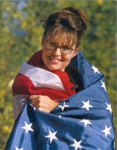 Palin Wearing Flag