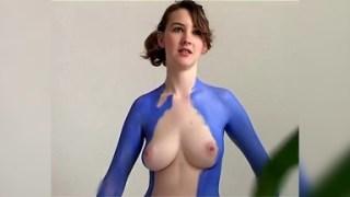 Nakakalibog na Body Painting - Ganda talaga ni Katie at Esta