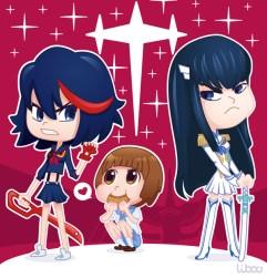 fanart,kill,ryuko,satsuki,chibi