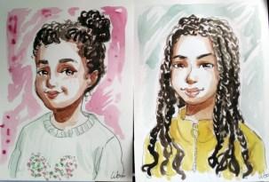 portrait-soeurs-aquarelle-dessin