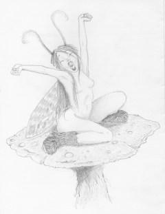 fée champi crayonnée
