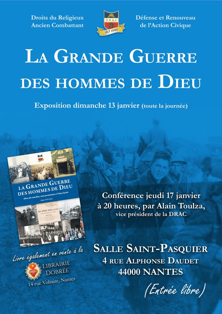 La Grande Guerre des hommes de Dieu – Exposition & conférence à Nantes