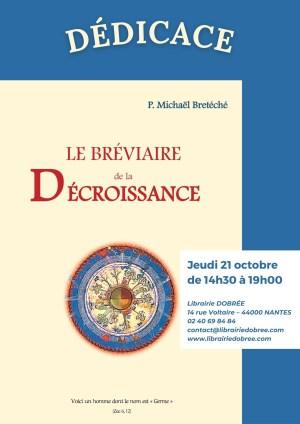 """Dédicace du Père Michaël Bretéché : """"Le bréviaire de la décroissance"""""""