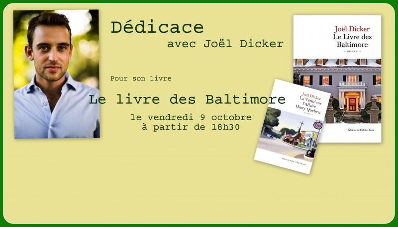 Rencontre Dédicace avec Joël Dicker