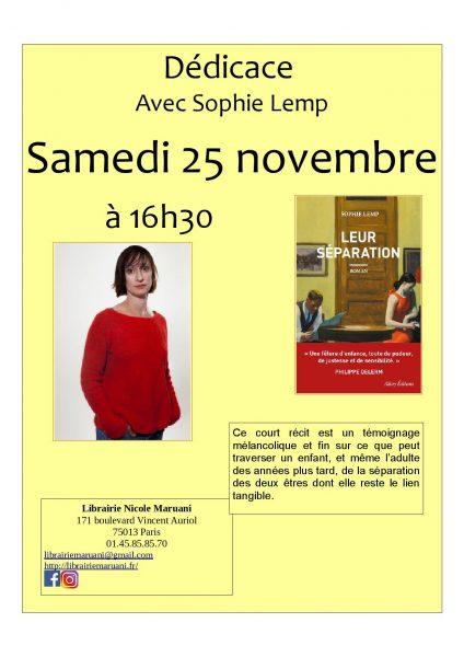 Rencontre avec Sophie Lemp