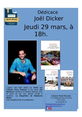 Rencontre avec Joël Dicker
